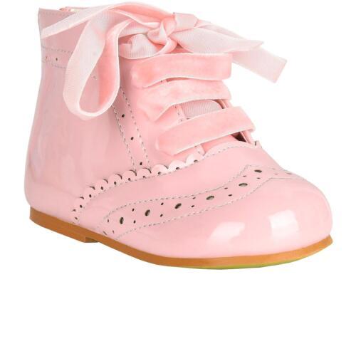Girls Bridesmaids Party Shoes Patent Shoes Infant Sizes UK 2,3,4,5,6,7,8,9,10