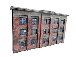 LOW-RELIEF-1930s-FACTORY-CARD-KIT-OO-GAUGE-1-76-SCALE-FOR-HORNBY-MODEL-RAILWAY