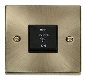 Click-VPAB020BK-1-Gang-3-Pole-10AX-Fan-Switch-Victorian-Antique-Brass-Black