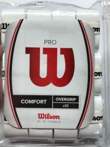 Wilson-WRZ4016WH-Tennis-Pro-COMFORT-Overgrip-Pack-of-12-White