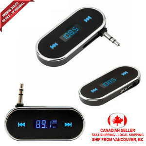 Car-FM-Transmitter-Mini-3-5mm-Adapter-Hand-Free-Cell-Phone-Audio-Music-to-Stereo