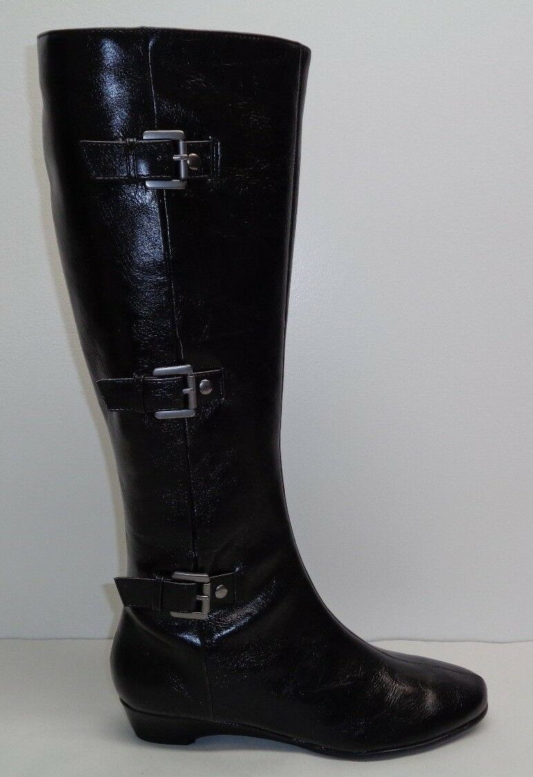 Aerosoles Size 5 M SARASOTA Black Smooth Knee High Boots New Womens shoes