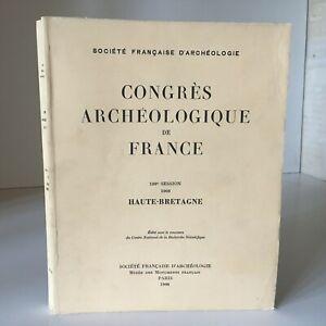 Congresso Archeologico Di Francia 126e Session 1968 Di Alta Bretagna 1973