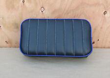 "14"" x 7-1/2"" BLACK/BLUE MINIBIKE SEAT OLD SCHOOL STYLE BOBBER CHOPPER MINI BIKE"