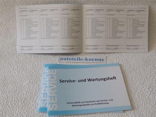 3x Universal ispezione manuale di servizio LIBRETTO DI MANUTENZIONE libretto degli assegni adatto Opel