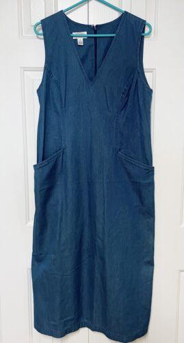 Vintage 90's Talbots Dress Chambray Prairie Denim