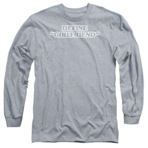 "DEFINE /""GIRLFRIEND/"" Humorous Adult Long Sleeve T-Shirt S-3XL"