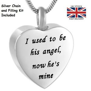Angel-Heart-Cremation-Urn-Pendant-Ashes-Necklace-Funeral-Memorial-Jewellery