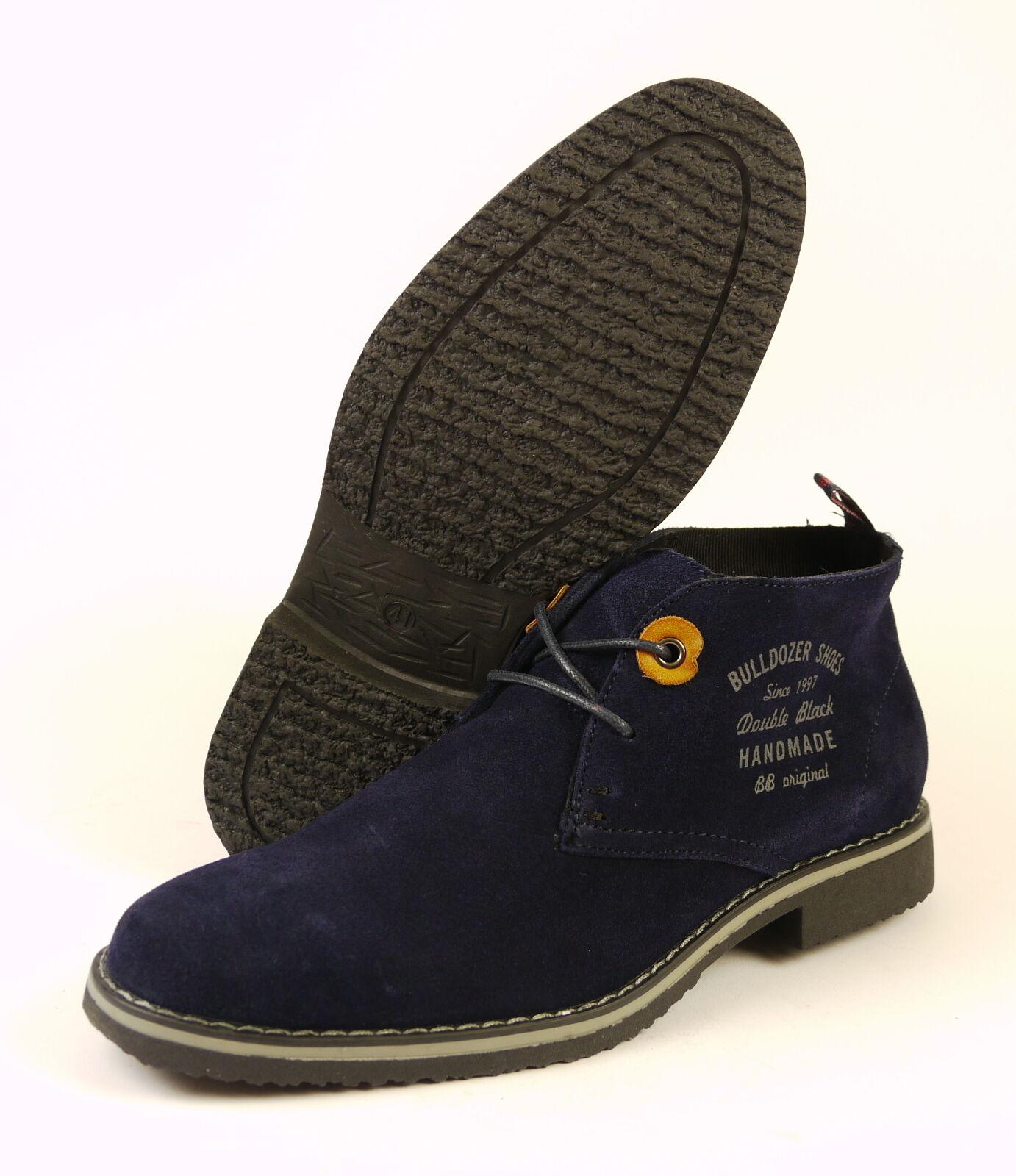 Bulldozer 52117 Herren Leder Schnürstiefelette Boots Größe 41 - 44 NEU