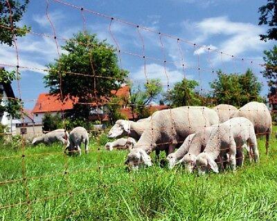 50 m Schafnetz 90 cm Doppelsp Hütenetz Schafzaun Weidezaun Netz Zaun Horizont