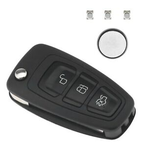 3-Button Flip Key Housing Shell Repair Kit Replace for Ford Focus Transit