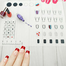 Nail Art Practice Silicone Mat Pad Coloring Polish Stamping Transfer Palette EN