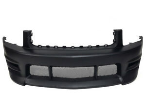 05-09 Ford Mustang V6 Boy Racer Style Front Bumper w/ Lower Mesh Grilles