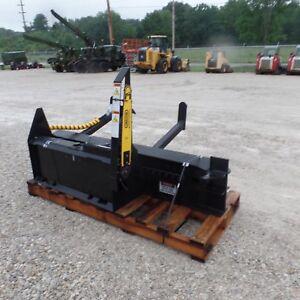 Details about Firewood wood log Processor Attachment Bobcat CAT Deere Gehl  Skid Steer HWP-120