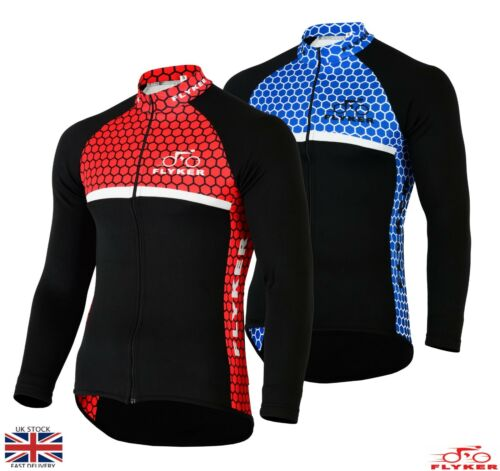Mens Cycling Jersey Long Sleeve Thermal Winter Cold Wear Bicycle Top Jacket