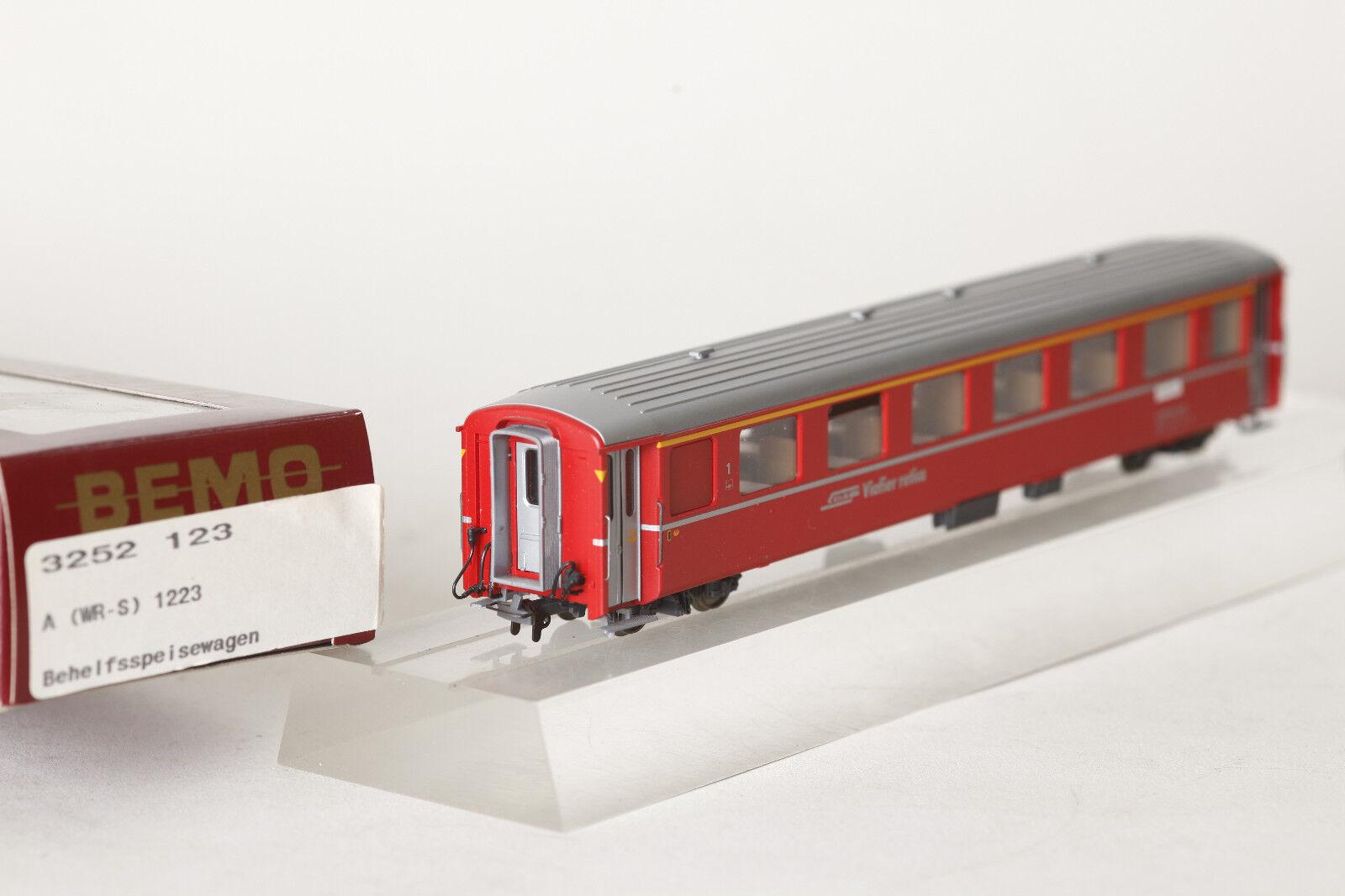 Bemo H0m H0m H0m 3252 123 Passenger Car Rhb Rhaetian Railway a WR-S 1223 1.kl. Red 91a486