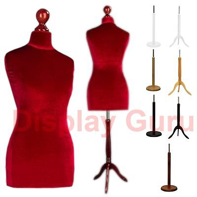Female Male Red Tailors Dummy For Tailor Dressmaker Fashion Mannequin Bust