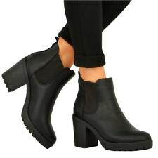 157e8ad673ddf item 4 Womens Ladies Chunky Block High Heel Shoes Platform Chelsea Ankle  Boots Shoes -Womens Ladies Chunky Block High Heel Shoes Platform Chelsea  Ankle ...