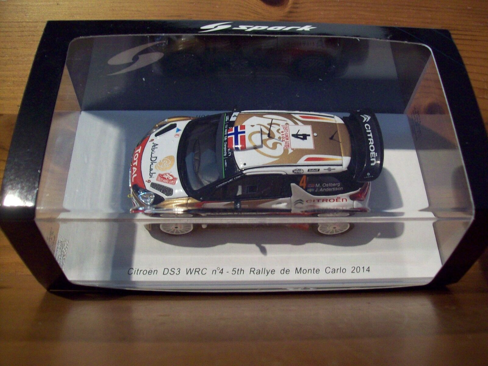 1/43 Spark S3789 Citroen DS3 WRC 5th Monte Carlo Rally 2018 4 Ostberg/Andersson