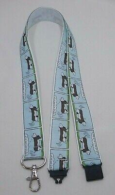 Blue Cartoon Basset Hound Dog Nastro Cordino/tracolla Id Badge Holder- Ulteriori Sorprese