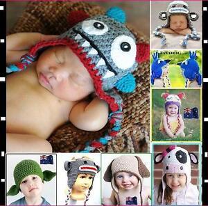Baby-Crochet-Animal-Mix-Hat-Beanie-Knit-Crochet-Beanie-Cap-Baby-Gift-FOR-Winter