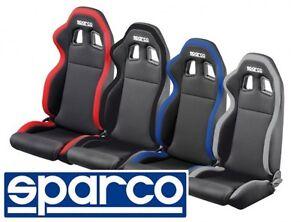 Sitz-Sport-Sparco-Modell-R100-Neu-Serie-Schwarz-Stoff