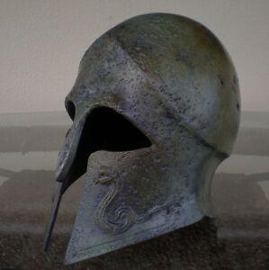 Greek-Spartan-Corinthian-Bronze-Small-Helmet-With-Snakes-Antique-Style