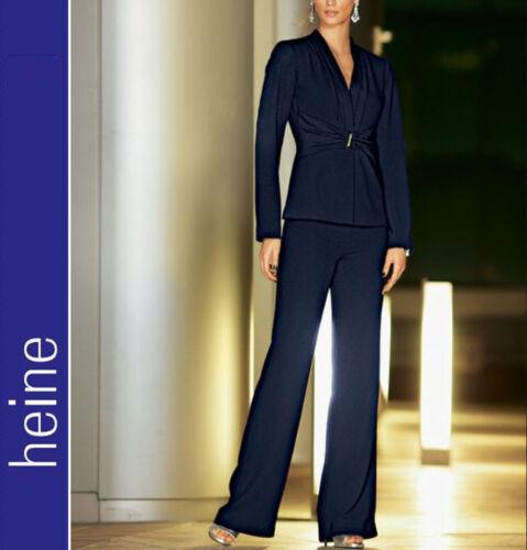 076598 Nouveau élégant large soir pantalon de le crêpe 34//17 40//20 46//23 Heine Nachtblau