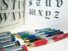 5x Classic Calligraphy Fountain Pen Set Lot of 5 Nibs 0,1,2,3,4 Free Shipping
