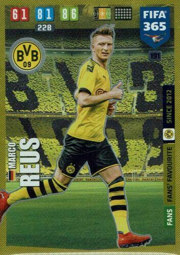 Panini Adrenalyn XL FIFA 365 2020 Fans/' Favourite Nr 191 Marco Reus Dortmund