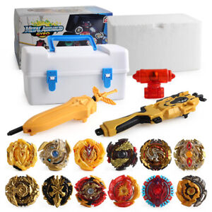 12PCS-Beyblade-Gold-Burst-Set-Toys-Spinning-With-Grip-Launcher-Portable-Box-Case