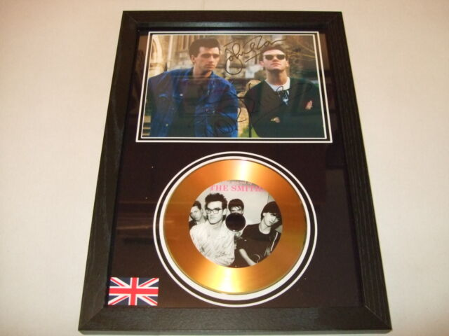 THE SMITHS   SIGNED  GOLD   DISC   DISPLAY 6