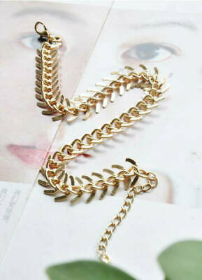 Dependable Ladies Gold Plated Fishbone Ankle Bracelet Comfortable And Easy To Wear Fashion Jewelry
