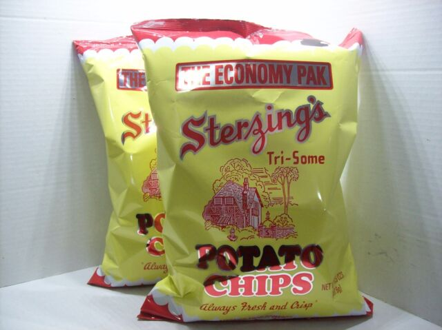 2 Bags Sterzings Potato Chips Fresh and Crisp