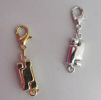 Magnetic Jewelry Clasp Total 2 Silver & Gold Necklace Bracelet