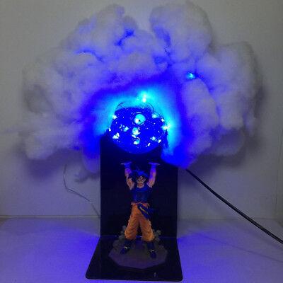 RARE Dragon Ball Z Goku Genki Dama//Spirit Bomb Cloud Led Lamp Figure