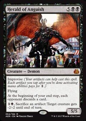 4 Herald of Anguish Black Aether Revolt Mtg Magic Mythic Rare 4x x4