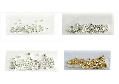 Quetschröhrchen/Tube Silberfarben 1,5mm, 2,0mm, 2,5mm, goldfarben 2,0mm 100Stück