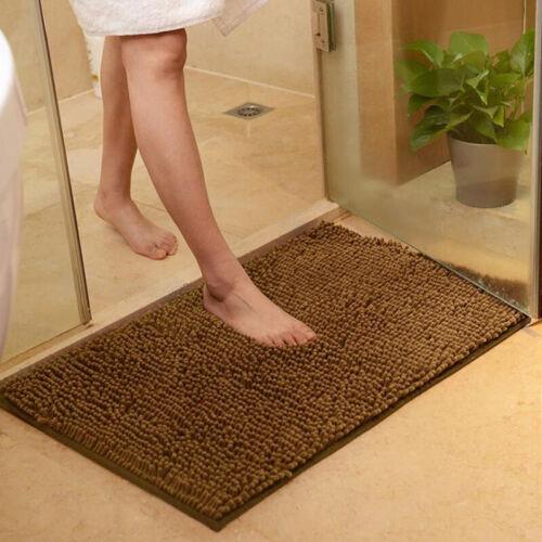 Soft Shaggy Non Slip Water Absorbent Bath Mat Bathroom Shower Bedroom Rug Carpet