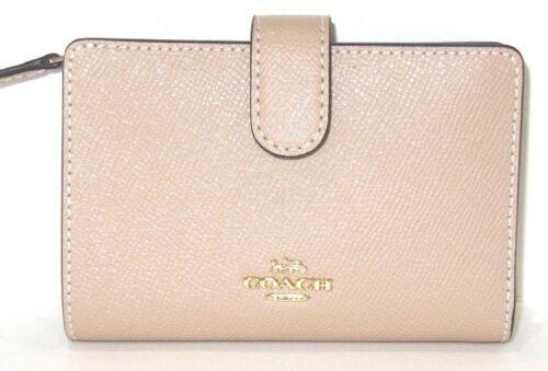 Coach Beechwood Cross Grain Leather Medium Corner Zip Wallet F11484 NWT $165