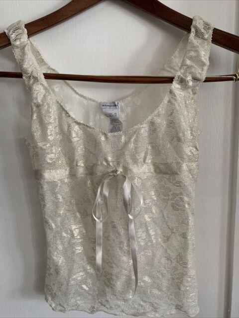 Intimissimi Goldish lace Camisole Top sleepwear nightwear size Xs NWT