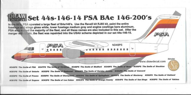 British Aerospace BAe 146-100 SKYJET decal 1\144