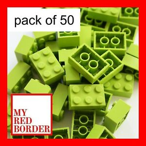 LEGO 2x4 BRICKS 3001 Pack Of 50 Parts ORANGE Pieces Bundle Creator Set