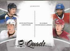 SUBBAN, EKMAN-LARSSON, FWOLER & SHATTENKIRK 2010-11 The Cup Quads Rookie Proof