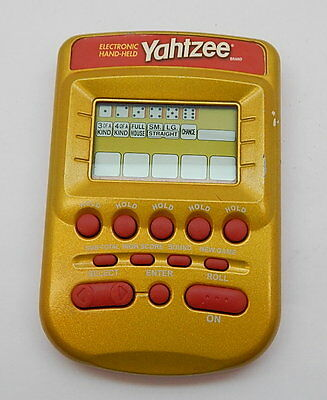 Electronic, Battery & Wind-up Electronic Yahtzee Gold Milton Bradley Hand Held Working R14295 Fine Craftsmanship