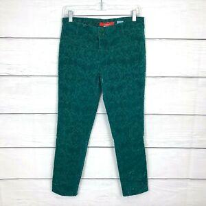 Anthropologie-Cartonnier-Charlie-Ankle-Jeans-Straight-Leg-Mid-Rise-Damask-Sz-4