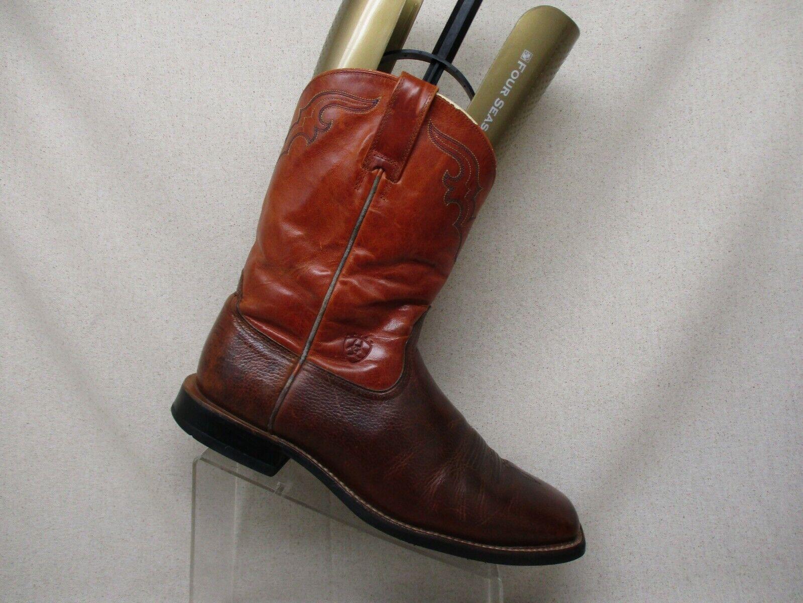 Ariat arancia Marroneee Leather Western Cowboy stivali Mens Dimensione 12 D Style 53384