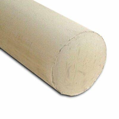 "Polyamide Extruded Plastic Rod 2/"" OD x 12/"" Length Black Nylon 6//6"