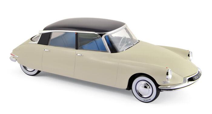 NOREV 1 18 AUTO DIE CAST CITROEN DS 19 1956 CHAMPAGNE & AUBERGINE  ART 181565