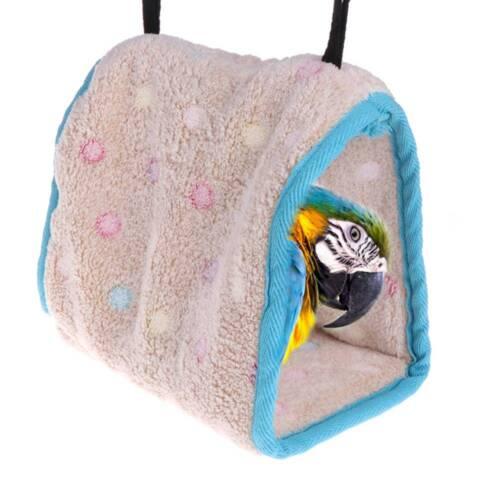Winter Warm Bird Nest House Warm Hut Cage For Parrot Macaw Parakeet Small Bird